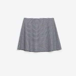 NWOT Zara Trafulac Black/White Stripe Mini Skirt